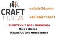Dam pracę w Norwegii dla elektryków przemysłowych DSB w Oslo i okolicach