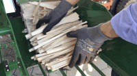 Pakowanie drzewa kominkowego – sezonowa praca w Norwegii, Åsnes lipiec 2019